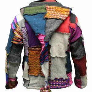 Chaqueta hippie de patchwork con tye dye para hombre