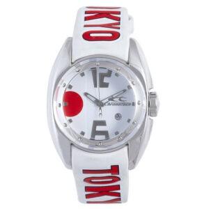 Chronotech Kid's CT.7704M / 29 Reloj con fecha de cuero blanco y esfera blanca