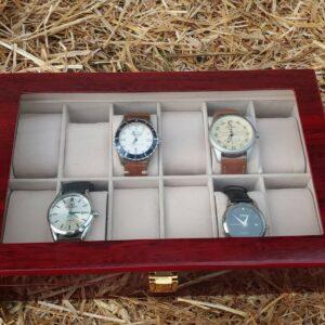 Colección de lotes de relojes para hombres, incluye vitrina