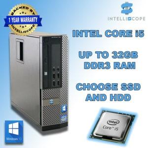 Computadora portátil rápida Quad Core i5 Desktop SFF 32GB RAM HDD y SSD Windows 10