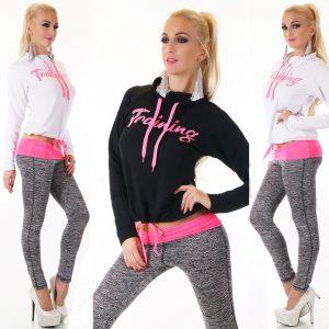 Conjunto de pantalones de sudadera de chándal para mujer Sport Gym Lounge Wear Sweat Suit equipado
