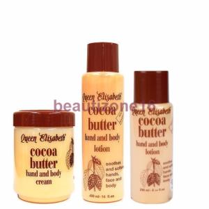 Crema y loción para manos y cuerpo de manteca de cacao Queen Elisabeth - Productos para el cuidado de la piel
