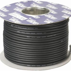 DAP DMX Cable 100m Rollo Tambor negro Instalación Iluminación de escenario 2 PANTALLA NÚCLEO D9433B