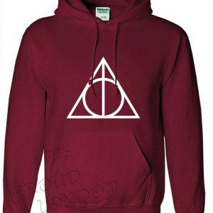 Deathly Hallows Triangle Magic Fashion Unisex Sudadera con capucha Tallas para adultos y niños