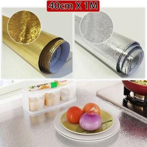 Decoración Etiqueta de la pared Cubierta del horno Refrigerador Electrodomésticos Cocina Anti-Oil