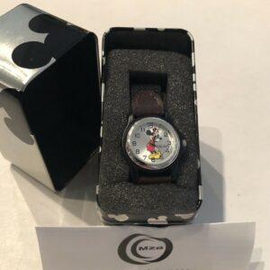 Disney MCK620 Mickey Silver Dial Reloj para niños con correa de nailon negro - GRAN REGALO NIB