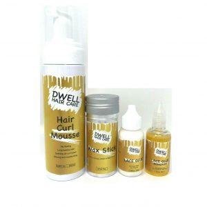 Dwell Hair Care, Curl Mousse, Pegamento de encaje para pelucas, Productos