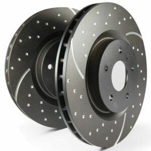 EBC Trasera Turbo Groove / GD Sport Rotors Discos de freno (par) - GD1590