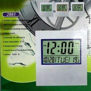 Escritorio de pared LCD electrónico Reloj Hora Alarma Temperatura Oficina Escuela Pasillo DIGITAL
