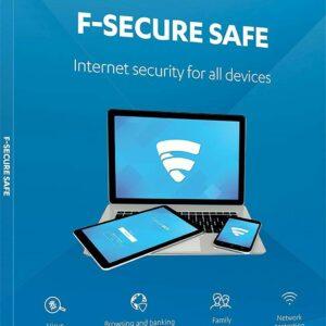 F-SECURE SAFE INTERNET SECURITY 2020 - PARA DISPOSITIVO DE 3 PC - CAJA DE VENTA AL POR MENOR