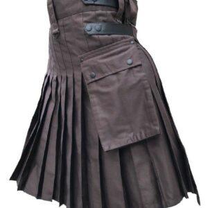 Falda escocesa para uso general del algodón del deporte de la moda de las correas del cuero genuino marrón de los hombres, ajustable