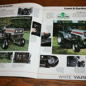 Folleto de ventas de White Lawn & Garden Equipment Yard Boss