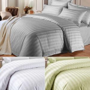 Funda de edredón y funda de almohada lisos Juego de cama reversible Individual Doble tamaño King