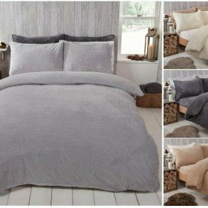 Funda nórdica Teddy Fleece con funda de almohada Juego de ropa de cama térmica cálida