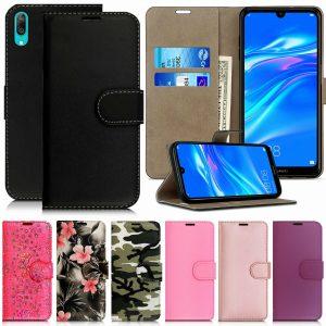 Funda para Huawei Y5 Y6 Y7 9 2019 Cartera Funda de cuero Soporte abatible Protector de teléfono
