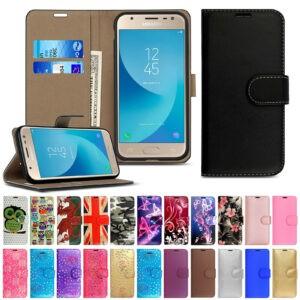 Funda para Samsung Galaxy J3 J5 J4 J6 Plus J8 Funda con tapa de cuero para teléfono y tarjeta