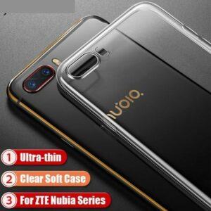 Funda para teléfono Silicone Lite Soft Clear Plain Design Cover Accesorios para ZTE Nubia