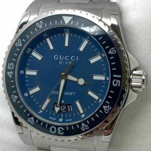 GUCCI Dive YA136203 Reloj de cuarzo para hombre de acero inoxidable con esfera azul
