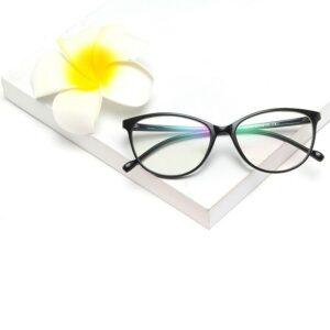 Gafas de filtro de luz azul anti ojo de gato de gran tamaño para mujer Marcos de diseñador de moda