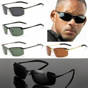 Gafas de sol para hombre Gafas polarizadas de conducción deportiva al aire libre UV400