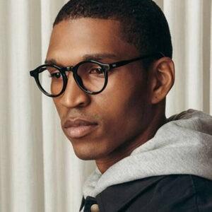 Gafas redondas de moda para hombre con lentes que bloquean la luz azul y círculo clásico ovalado