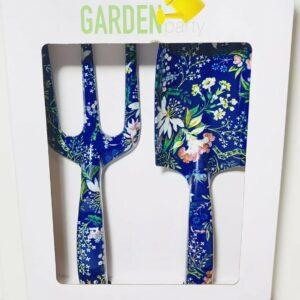 Garden Party Kit de herramientas florales de 2 piezas Juegos de herramientas para el hogar / jardín Equipo Azul NUEVO