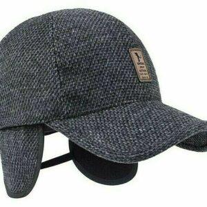 Gorra de béisbol cálida para hombre, suave y gruesa, sombrero de mezcla, orejeras, moda, Otoño Invierno, sombreros