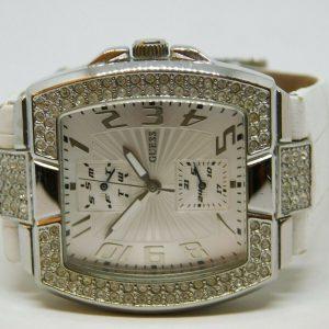 Guess U11555L2 Reloj analógico de cuarzo de cuero genuino para mujer