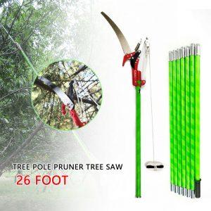 HOT 26-Foot Rama de árbol Podadora de poste Sierra Herramientas de jardín Equipo de corte de recorte