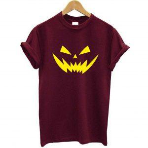 Halloween Pumpkin Yellow Devil Face Scary Fashion Unisex Camisetas para adultos y niños