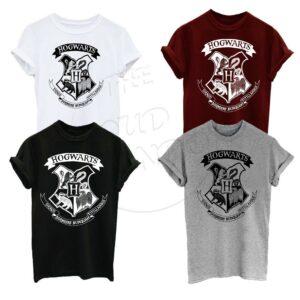 Harry Potter Hogwarts Crest Logo Fan Fashion Unisex Adulto, Camiseta para niños Top