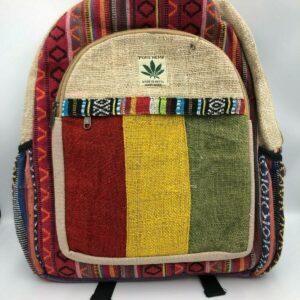 Himalayan Group Mochila para portátil de cáñamo puro hecha a mano con múltiples bolsillos naturales # 4