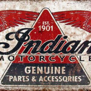 Indian Motorcycles Parts & Accessories retro vintage metal sign