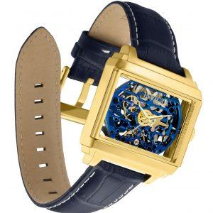 Invicta 32176 Objet D Art Reloj para hombre NUEVO 40MM Esfera dorada Correa de cuero automática