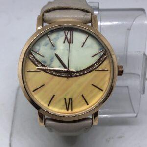 Jcpenny Wac5446 Reloj analógico con correa marrón dorado rosa para mujer # 35