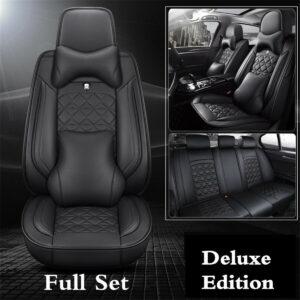Juego de almohadas de cojines de cubierta de asiento de coche de PU de edición de lujo para accesorios interiores