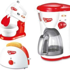 Juego de electrodomésticos de cocina de juego de simulación, máquina de café, tostadora y juegos de mezcla