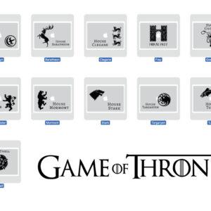 Juego de tronos calcomanía para Macbook Laptop - House Stark, House Targaryen, All