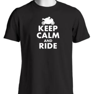 Keep Calm And Ride Camiseta Motociclista Entusiasta Accesorios Moto Motocicleta