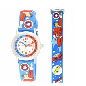Kid's Cartoon Time Teacher Watch Multicolour R1513.79-87-Superheroes
