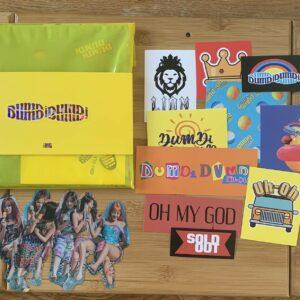 Kpop (G) I-dle Versión oficial del día del álbum Dumdi Dumdi con pegatinas y póster