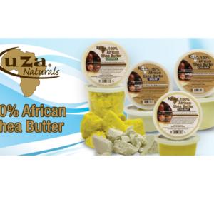 Kuza 100% manteca de karité africana para piel, cabello y productos para el cuidado de las uñas