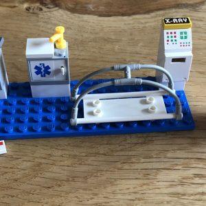 LEGO Hospital Nurse Doctor ACCESORIOS -Estirador X-ray Computer Letter