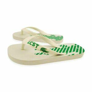 Lacoste Kid's Unisex Flip Flop Frontflip Beach SCC EVA Green Fashion Boys Girls