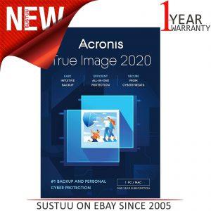 Licencia Acronis True Image 2020 para 1 PC│Cyberthreat Security│ Copia de seguridad intuitiva
