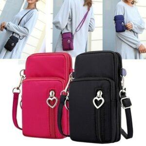 Los deportes de la mini bolsa del teléfono móvil de la moda de las mujeres que funcionan con los bolsos cruzados cuadrados del bolso