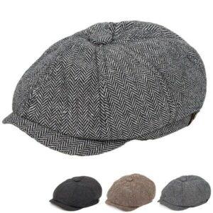Men's Fashion Autumn Winter Hat Driving Cap Newsboy Hat