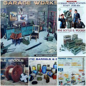 MiniArt 1/35 Figuras Edificios y accesorios Nuevo kit de modelo de plástico Mini Art 1 35