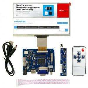 """Monitor de pantalla LCD de 10.1 """"Controlador HDMI VGA 2AV para Raspberry Pi Windows"""