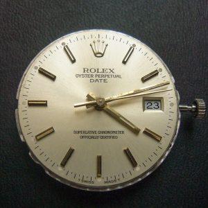 Movimiento reloj Rolex 3135 con esfera y agujas